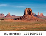 beautiful monument valley at... | Shutterstock . vector #1191004183