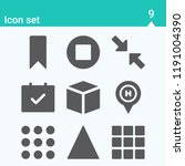 contains such icons as cube ... | Shutterstock .eps vector #1191004390