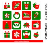 christmas icons series  ... | Shutterstock .eps vector #1191011923