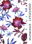 floral seamless pattern with... | Shutterstock . vector #1191014020