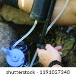 water filter pump for camping... | Shutterstock . vector #1191027340