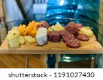 meat and cheese sample board | Shutterstock . vector #1191027430