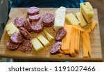 meat and cheese sample board | Shutterstock . vector #1191027466