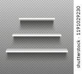 white empty shelves. blank... | Shutterstock .eps vector #1191029230