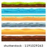 seamless ground surface. green... | Shutterstock .eps vector #1191029263