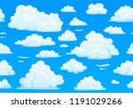 cartoon blue cloudy sky.... | Shutterstock .eps vector #1191029266
