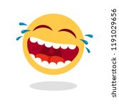 laughing smiley emoticon.... | Shutterstock .eps vector #1191029656