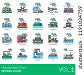 transportation vector icons.... | Shutterstock .eps vector #1191034759