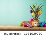 christmas holiday concept with  ... | Shutterstock . vector #1191039730