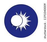 solar eclipse icon in badge...