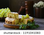 homemade pie cake  biscuit with ... | Shutterstock . vector #1191041083