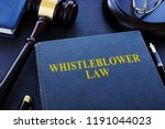 whistleblower law book and... | Shutterstock . vector #1191044023