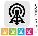 radio tower icon   Shutterstock .eps vector #119105470