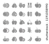 fruit icon collection   Shutterstock .eps vector #1191058990