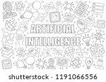 artificial intelligence... | Shutterstock .eps vector #1191066556