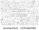 internet of things background... | Shutterstock .eps vector #1191066586