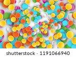 confetti birthday and... | Shutterstock .eps vector #1191066940
