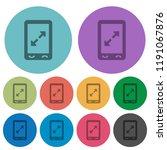mobile pinch open gesture... | Shutterstock .eps vector #1191067876