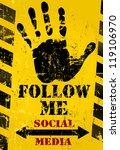 "grungy ""follow me"" social media ...   Shutterstock .eps vector #119106970"