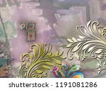 beautiful colorful textile... | Shutterstock . vector #1191081286
