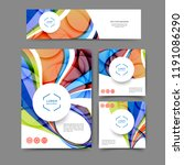 set of color abstract brochure... | Shutterstock .eps vector #1191086290