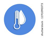 thermometer and humidity icon...