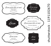 set of labels for design... | Shutterstock .eps vector #1191102670