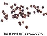 dried black pepper seeds on... | Shutterstock . vector #1191103870