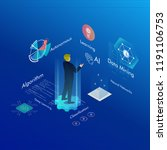 machine learning  ai  data... | Shutterstock .eps vector #1191106753