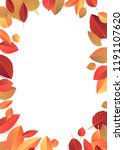 autumn  fall background with... | Shutterstock .eps vector #1191107620