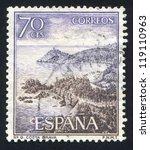 spain   circa 1964  stamp... | Shutterstock . vector #119110963