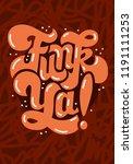 funk music lettering type...   Shutterstock .eps vector #1191111253