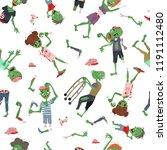vecctor zombie cartoon... | Shutterstock .eps vector #1191112480