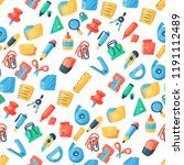 stationery icons office supply... | Shutterstock .eps vector #1191112489