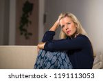 40s depressed and anxious... | Shutterstock . vector #1191113053