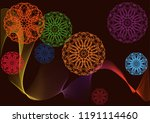 abstract shapes background... | Shutterstock .eps vector #1191114460