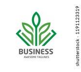 creative leaf logo eco graphic... | Shutterstock .eps vector #1191123319