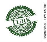 green turk distressed rubber... | Shutterstock .eps vector #1191123409