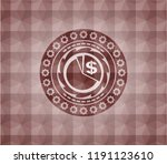chart icon inside red emblem... | Shutterstock .eps vector #1191123610
