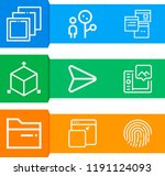 simple set of  9 outline icons... | Shutterstock . vector #1191124093