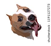 staffordshire terrier vector    Shutterstock .eps vector #1191127273