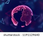 global network concept  digital ... | Shutterstock .eps vector #1191129640