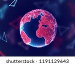 global network concept  digital ... | Shutterstock .eps vector #1191129643