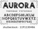 font script typeface vector...   Shutterstock .eps vector #1191130486