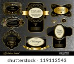 retro black gold label can be... | Shutterstock .eps vector #119113543