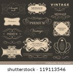 calligraphic design elements ... | Shutterstock .eps vector #119113546