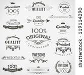 calligraphic design elements... | Shutterstock .eps vector #119114290