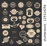 set of retro vintage labels ... | Shutterstock .eps vector #119114296