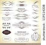 calligraphic design elements... | Shutterstock .eps vector #119114338