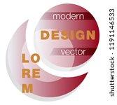 minimalistic design  creative... | Shutterstock .eps vector #1191146533